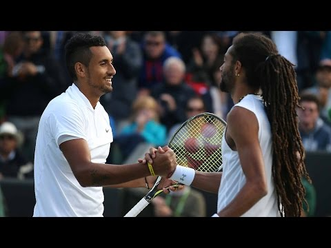 Nick Kyrgios VS Dustin Brown Highlight 2016 R2