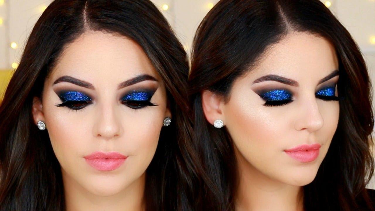 Ojos ahumados negro con brillo azul para a o nuevo black for Como pintarse los ojos de negro