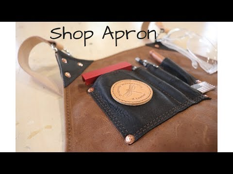 Leather Woodworking Apron - Dragonfly Woodworking and Leather