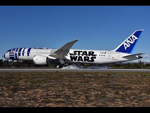 All Nippon Airways 'R2-D2 Jet' [JA873A] Landing and Taxi at LAX