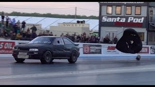 AUDI S2 Runs 1/4 Mile with Chute Open, Quicker Than Most Hot Hatches