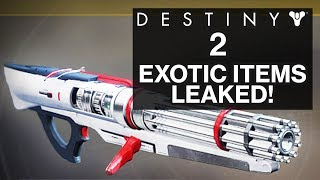 Destiny 2: leaked info shows exotic armor, weapons, and more! (spoilers)