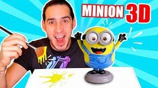 HAGO AL MINION EN 3D ! LO IMPRIMO Y LO PINTO | Haroldartist
