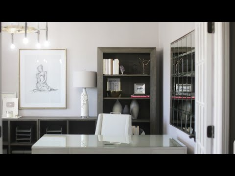 NEW! CONTEMPORARY GLAM OFFICE TOUR| INTERIOR DESIGN