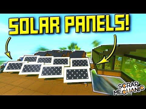 MOVING SOLAR PANELS and FIXED BRIDGES (Suspended Mountain Base Part 20) - Scrap Mechanic Gameplay