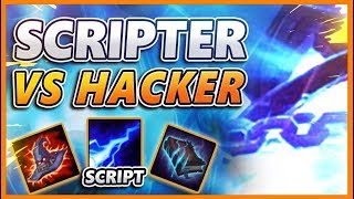 SCRIPTER VS HACKER!! WHO WINS?? (REPORTED AFTER THE GAME 😂😂) - BunnyFuFuu URF