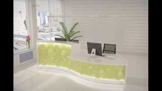 Neues Empfangstheken - Design Pearl  By Andreas Stock Reception Desk Design Office Furniture