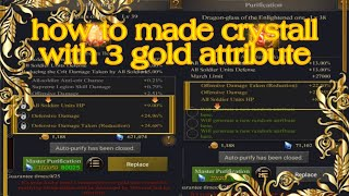 Clash Of Kings : How to get 3 golden attributes on Level 38 and 39 dragon glass