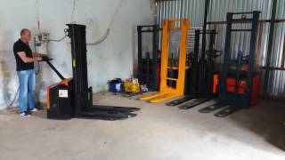 Штабелер  электрический  Rocla, Caterpillar, Mitsubishi 410 CM 2005р 1600кг(, 2017-07-12T08:56:53.000Z)
