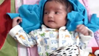 Cutest baby Jhalaki/Modern Dad Caring Baby/Indian Parenting Style/20 days old baby listening dad