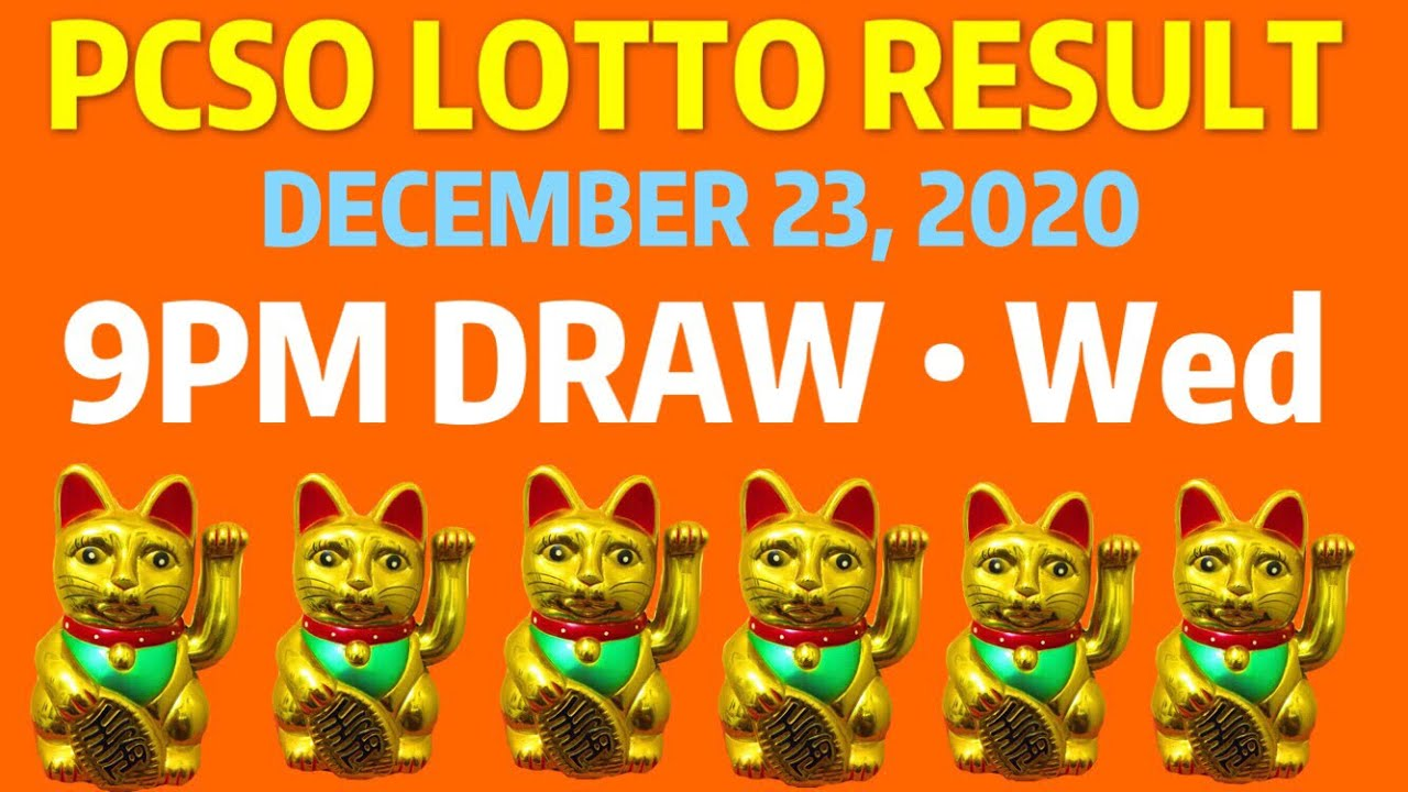 Pcso Lotto Result 9pm Draw December 23 2020 Swertres Result 9pm Lotto 3d 2d 6 Digits Today Youtube