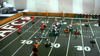 Electric Football 1st down pass play by the Bears