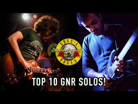 Top 10 Guns N Roses Guitar Solos - Ft. Danilo Vicari