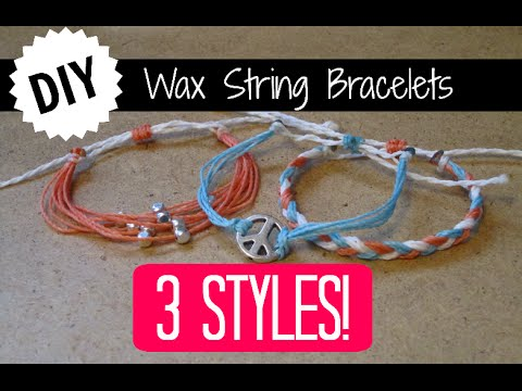 3 Diy Wax String Friendship Bracelets Tutorial Inspired By Pura Vida