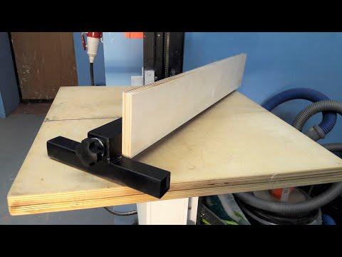 Как сделать параллельный упор для циркулярного стола