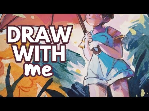 Draw With Me (Watercolour) - Mood Board Swap W/ Dina Norlund!