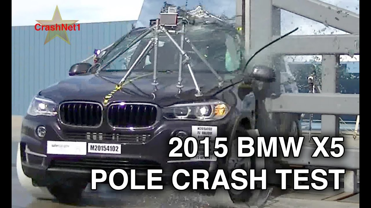 2015 Bmw X5 Pole Crash Test Youtube