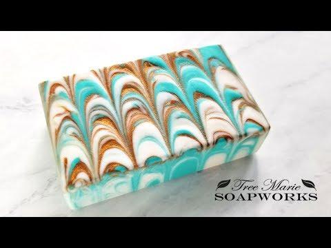 Nonpareil Swirl Technique, Cold Process Soap Making, (Technique Video #8)
