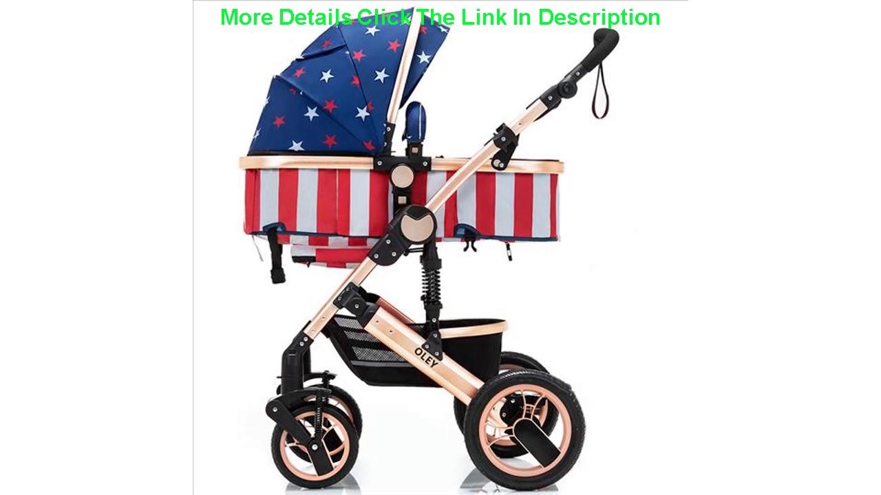 Lightweight Luxury Baby Stroller 3 in 1 Portable High ...