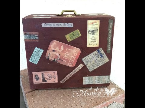 Altered Cigar Box - Gypsy Suitcase using papers from 7gypsies