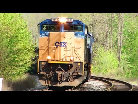 1.5 Hours Of Just CSX Train Engines In Action