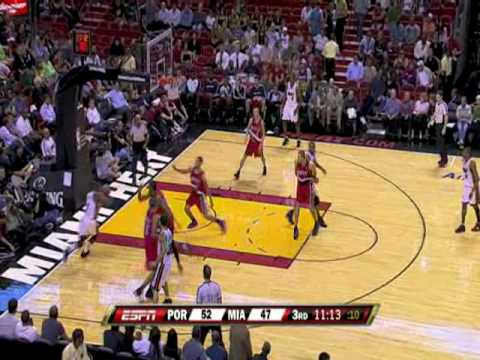 Miami heat v Portland trailblazers 13/11/08