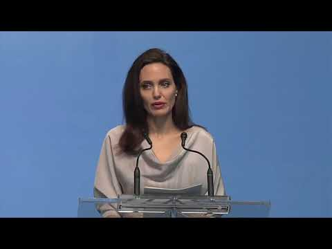 Complete video of Angelina Jolie's keynote speech at UNPeacekeeping conference Vancouver