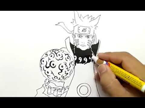 Cara Menggambar Naruto Six Path Mode Rasengan Dengan Mudah How To