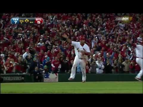 WS2011 Gm6: Freese's two-out triple ties it in the ninth