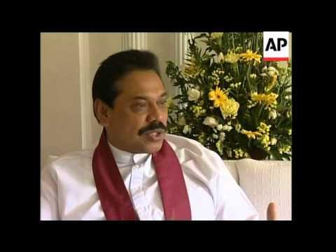 PM Mahinda Rajapakse interview on quake disaster