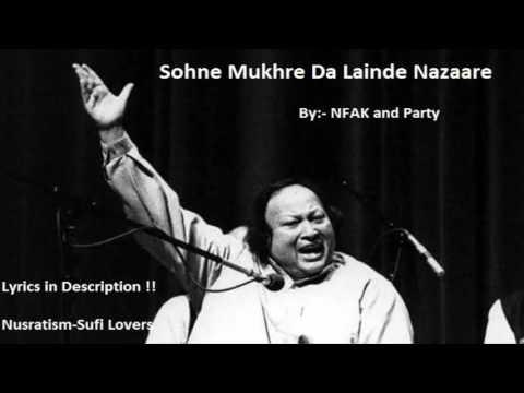 Sohne Mukhre De Lainde Nazare || Nusrat Fateh Ali Khan || Lyrics in description