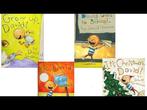 Grow Up, David! No, David! David Goes to School! It's Christmas, David! Read Aloud Books for kids!