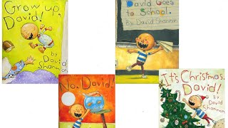 Gambar cover Grow Up, David! No, David! David Goes to School! It's Christmas, David! Read Aloud Books for kids!