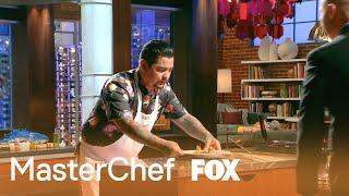 Aarón Presents His Dish To Gordon & Joe   Season 9 Ep. 9   MASTERCHEF