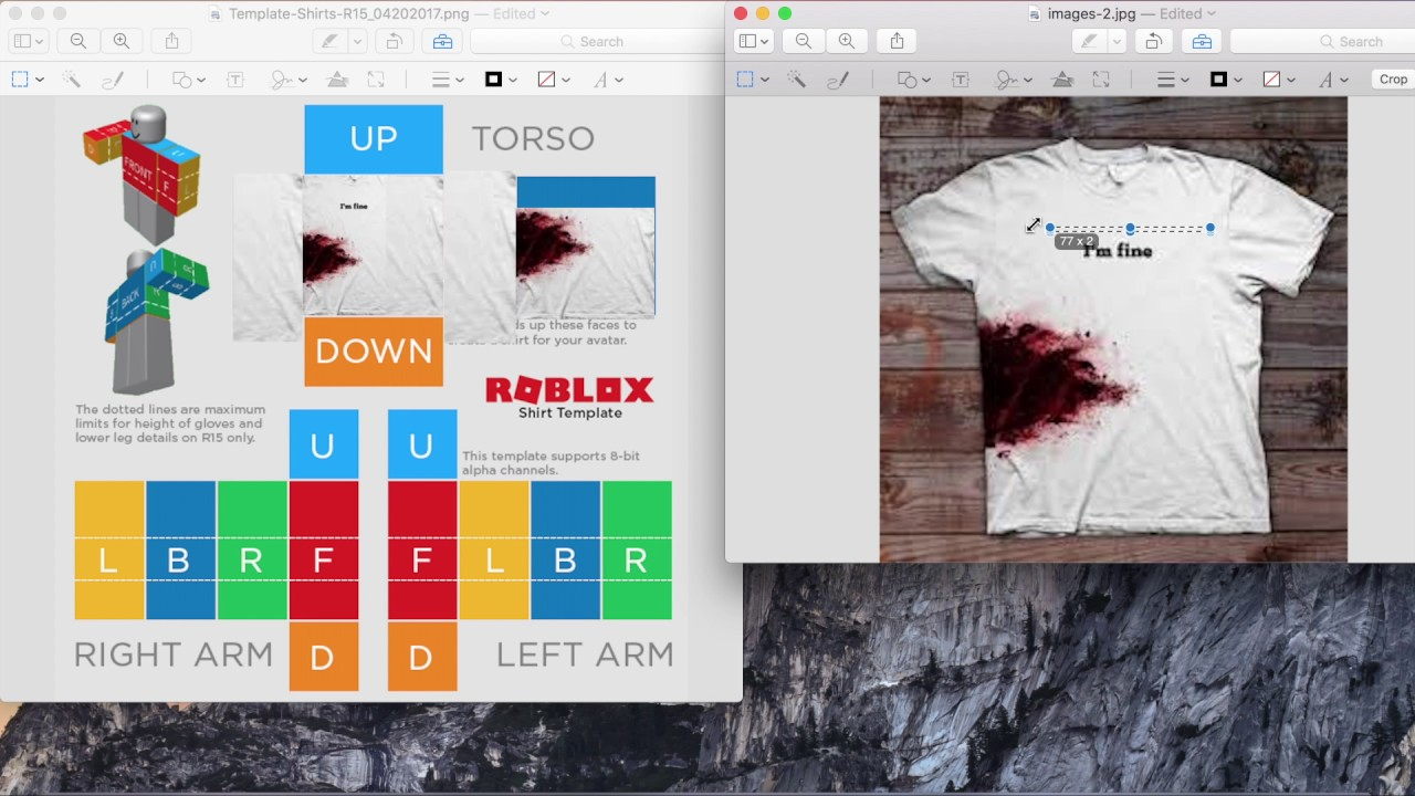 Step By Step How To Make A Shirt On Roblox Mac Youtube