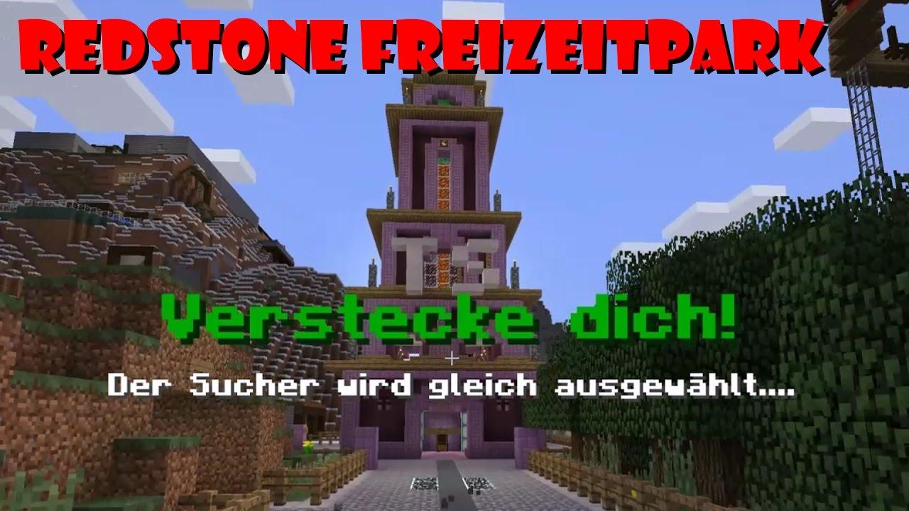 Redstone Freizeitpark SERVER Verstecken Spielen YouTube - Minecraft verstecken spielen server