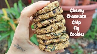 CHEWY CHOCOLATE CHIP FIG COOKIES // 5 Ingredient No-Bake Recipe