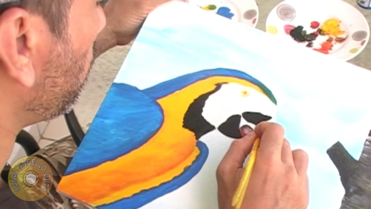 Aprenda A Pintar Quadro Em 15 Minutos Arara Azul Youtube