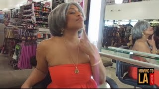 moving to la episode 688 wig shopping at ebony hair wigs on crenshaw