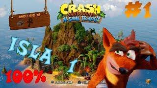 Guia Crash Bandicoot N. Sane Trilogy | Isla 1 | Crash Bandicoot | 100%