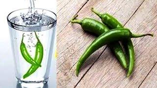 रात में पानी में 2 हरी मिर्च डाल कर पीने के फायदे हैरान कर देंगे
