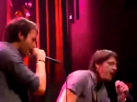 Matthew Lewis and James Phelps singing karaoke  Twist and Shout