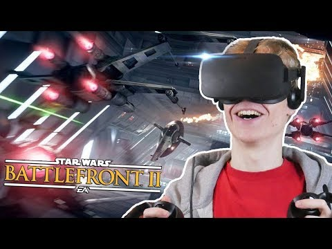 FLYING A X-WING & TIE FIGHTER IN VIRTUAL REALITY | Star Wars Battlefront 2 VR (Oculus Rift Gameplay)