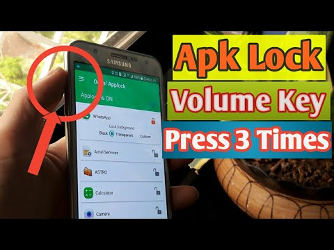 Apk Lock From Volume Key New Trick Any Andriod Mobile | K-Note App Lock No One Can Unlock 2019