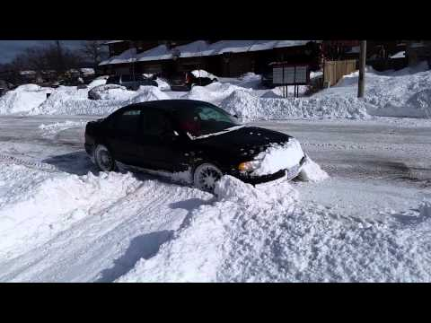 "Slammed 300hp Audi A4 Quattro vs 15"" of snow"