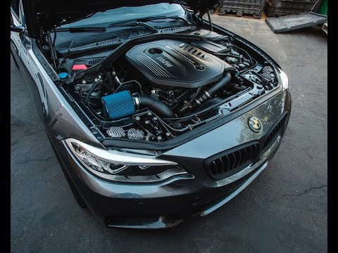BMW M240I Rev Up And Flyby With Agency Power Short Ram Air Intake