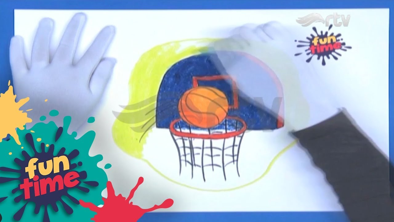 Fun Drawing Menggambar Bola Basket & Ring