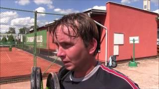 Ivo Minář po výhře v prvním kole na turnaji Futures v Ústí n. O.