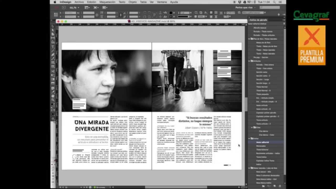 Plantilla Revista Indesign: Ad-visevice - YouTube