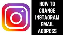 How to Change Instagram Email